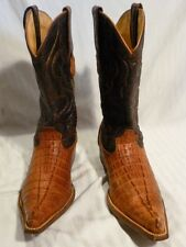 Wild West Cowboy Boots, Hand Made, Genuine Crocodile, size 6 EE, horn back