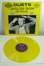"JERRY LEE LEWIS "" Duets "" NM yellow Vinyl LP SUN Rock 'n' Roll Elvis JOHNNY CASH"