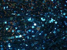 SEQUIN - MATT SQUARE TURQUOISE - STRETCH NET/MESH DRESS FABRIC - 3.6 METRES