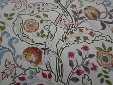 William Morris Curtain Fabric 'Mary Isobel' 2.4 METRES Rose/Slate 100% Linen