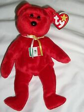 AH Ty Original Beanie Baby Babies Osito Mexico Red Bear With Tag