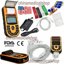 Free PC Software Electrocardiograph Single Channel ECG/EKG Machine 12 Lead FDA