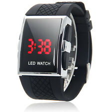 New Men's Fashion LED Luxury Date Digital Sports Quartz Wrist Watch Black