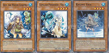 Eria The Water Charmer + Familiar Possessed Eria + Raging Eria - NM - Yugioh