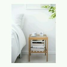 Table End Nightstand Natural Shelf Bedroom Furniture Side Stand Night Storage