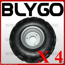 "4X 16X8- 7"" inch Wheel Rim + QIND Tyre Tire 110cc 125cc Quad Dirt Bike ATV Buggy"
