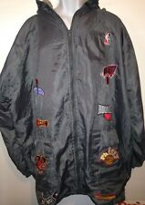 Embroidered NBA Mens Jacket Bulls Knicks Pistons Heat Nets Rockets 76ers Hawks