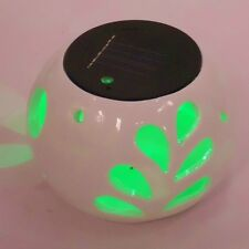 Solar Powered Garden Outdoor LED Light Lamp Ceramic Table Colour Changing 719982