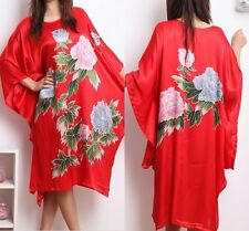 Oriental Kaftan Nightwear Japanese flower Sleepwear Pyjama Night Dress for women