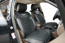 Car Seat Covers Suede w Leather Cushion Compatible to Toyota 6802 Black