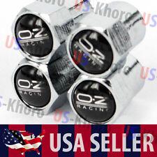 OZ Racing Logo Valves Stems Caps Covers Chromed Wheel Rims Car Tire Emblem USA