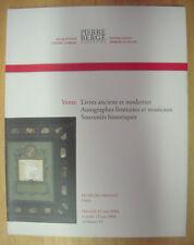 CATALOGUE DE VENTE LIVRES ANCIENS AUTOGRAPHES LITTERAIRES RICHELIEU DROUOT 2004