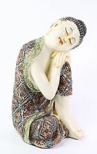 "Feng Shui 10"" Aged Ivory Resting Meditating Buddha Figurine Peace Statues"