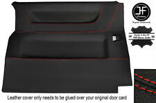 RED STITCH SIDE SLIDING DOOR CARD LEATHER COVER FITS VW T4 TRANSPORTER 90-03