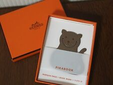 "HERMES PikaBook ""Cat"" in Etoupe Bookmark Charm Authentic NEW!!"