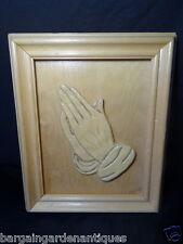 """Vintage Tallado A Mano Imagen """"de espaldas manos"""" Escultura Firma Robert Coffey"""