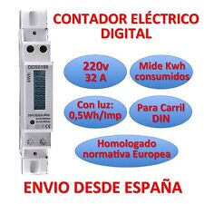 Counter de light Electric Digital Meter DE Energy LCD Rail DIN Energy Meter