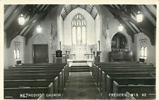A View Of The Interior, Methodist Church, Frederic Wisconsin WI RPPC 1962