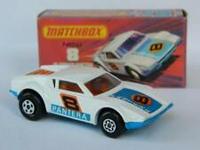 MATCHBOX LESNEY SUPERFAST No8 VINTAGE DE TOMASO PANTERA MINT ORIGINAL J BOX 1975