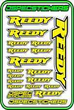 RC STICKERS REEDY 1/10 1/8 1/12 DECAL MOTOR BATTERY ESC CAR JSPEC YELLOW BLACK