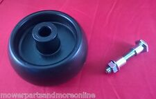 95mm X 50mm RIDE ON LAWN MOWER DECK WHEEL AND REPLACEMENT STUB AXLE. SIMPLICITY