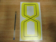 GUY MARTIN race number 8 - Yellow &  Black Sticker / Decal LARGE 200mm