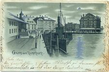 Rorschach / Bodensee, Mondschein-AK, um 1900/10