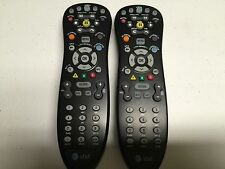 QTY LOT OF TWO (2) AT&T UVERSE BLACK S10-S4 REMOTE CONTROLS! NEWEST VERSION!