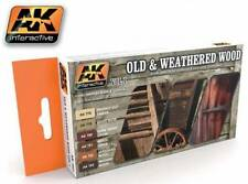 Ak Interactive AKI 562- Old And Weathered Wood Acrylic Paint Set #1