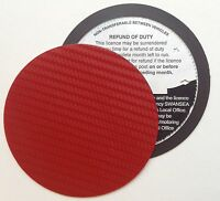 magnetic tax disc holder RED carbon fibre Fits volkswagen vw vauxhall focus IX35