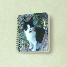 Dollhouse Opening Kitten Cat Notebook with Lined Pages Doll House Miniatures