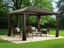 Sumatra 10x12 Hard Top gazebo with mosquito netting