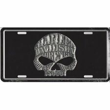 Offical Harley Davidson Willie G. Skull License Plate Sign Tag