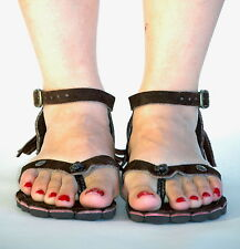 Leather Sandals color Brown size 8