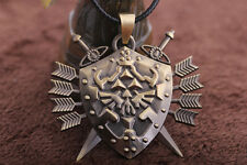 Legend of Zelda Link Hylian Shield Links Logo Metal Necklace Pendant Cosplay