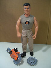 """ACTION MAN WITH CHAIN SAW 12"""" ACTION FIGURE HASBRO 1999"""