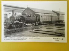 POSTCARD RP DISTRICT RAILWAY LOCO NO 33 & 4 WHEEL CARRIAGES
