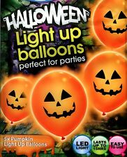 Pumpkin Illoom PALLONCINI-SPOOKY Arancione LED LIGHT UP HALLOWEEN PALLONCINI - 5 pack