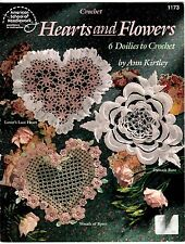 ASN Crochet Pattern Book HEARTS and FLOWERS DOILIES 1173 by Ann Kirtley