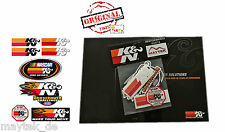 ORIGINAL K&N Motorsport Aufkleber Set - 8 Aufkleber, Decals, Stickers -Neu/New-