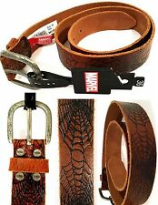 MARVEL SpiderMan Genuine Leather Tan Men's BELT(size: 36) - New with Tags