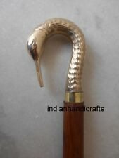 VICTORIAN WALKING STICK BRASS HANDLE TRENDY MEN'S ACCESSORY