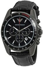 Emporio Armani Sport Leather Chronograph Mens Watch AR6097