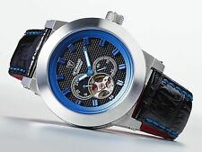 DeTomaso DT2046-C Detomaso Tordino Blue Aluminium Mens Automatic Watch W/ Black