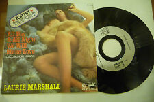 """LAURIE MARSHALL""""ALL DAY&ALL NIGHT -disco 45 giri EURO 1977"""" SEXY COVER"""