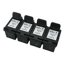 4 Pack HP 60XL Ink Cartridge - DeskJet D2568 D2645 D2660 D2663 D2680 F2400 F2420