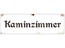 METALLSCHILD Shabby Blechschild Türschild KAMINZIMMER Vintage Dekoschild