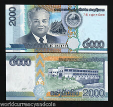 LAOS LAO 2000 2,000 KIP 2011 TEMPLE HYDRO ELECTRIC UNC CURRENCY BILL MONEY NOTE