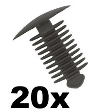 20x Fir Tree Spruce or Button Plastic Trim Panel Clips- 9-10mm Hole- 18mm Head