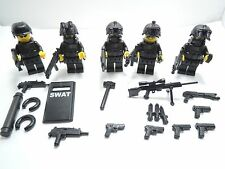 (no.5-28) custom lego swat 5 man Squad  police navy seal   gun army weapons